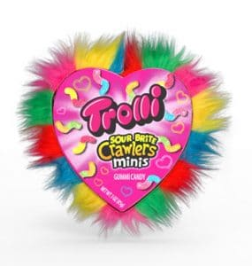 Ferrara Candy Co. Trolli Sour Brite Crawlers Minis Hairy Heart Gift Heart
