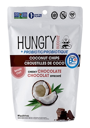 Probiotic Coconut Chips in Cheeky Chocolate