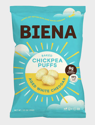 Biena Snacks Chickpea Puffs/Aged White Cheddar