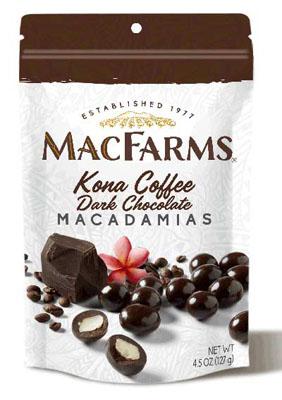 Kona Coffee Dark Chocolate Covered Macadamia Nuts