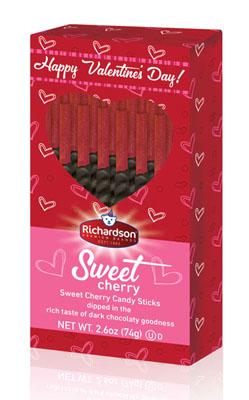 Valentine Cherry Candy Sticks