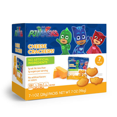 PJ Masks Shaped Cheese Crackers