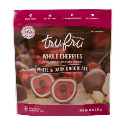 Whole Cherries Freshly Frozen & Immersed in Premium White and Dark Chocolate