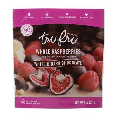 Whole Raspberries Freshly Frozen & Immersed in Premium White and Dark Chocolate