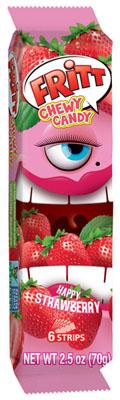 Fritt Chewy Candy Strips Orange/Cherry/Strawberry