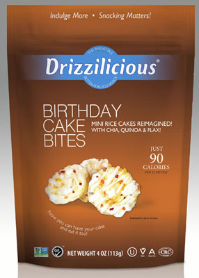Birthday Cake Bites - Mini Drizzled Rice Cakes