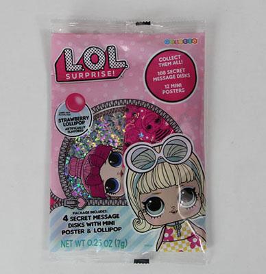 LOL Surprise ! Secret Message Disk w/Mini Poster $ Lollipop