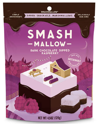 SMASHMALLOW DIPPED Dark Chocolate Raspberry