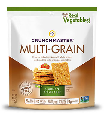 Multi-Grain Crackers in Garden Vegetable flavor