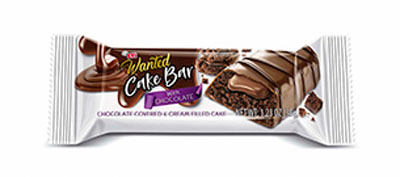 Wanted Cake Bar Chocolate Covered  & Cream Filled