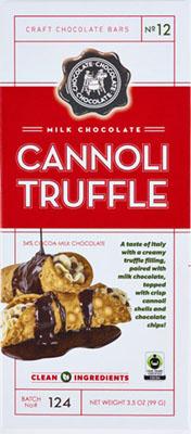 Milk Cannoli Truffle Bar