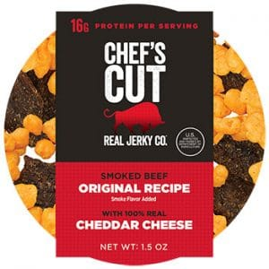 Chef's Cut Real Jerky Protein Packs Real Steak Jerky, Original Recipe Cheddar Cheese