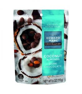 Edward Marc Brand Coconut Almonds with Dark Chocolate