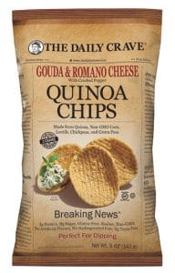 The Daily Crave Gouda & Roman Cheese Quinoa Chips