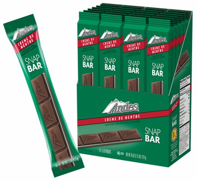 Charms company Andes creme de menthe snap bar