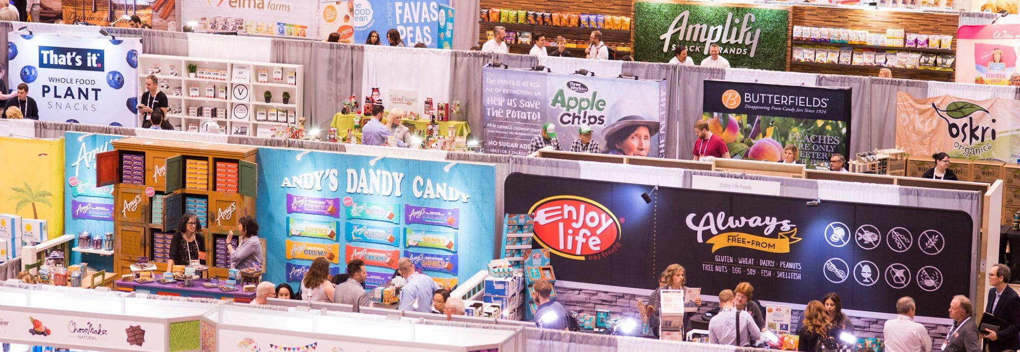 Gourmet candy and snack exhibitors