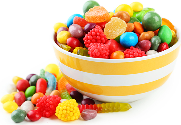Yellow Bowl Of Candies
